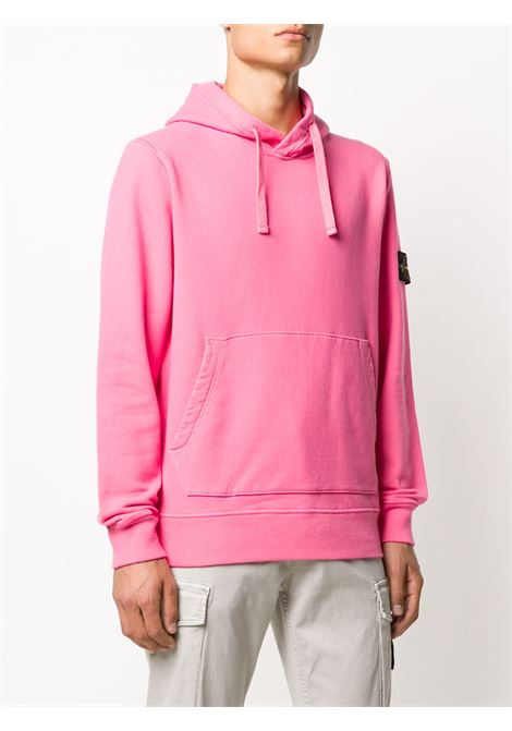 pink cotton hoodie featuring drawstring hood,  STONE ISLAND |  | 731564120V0087
