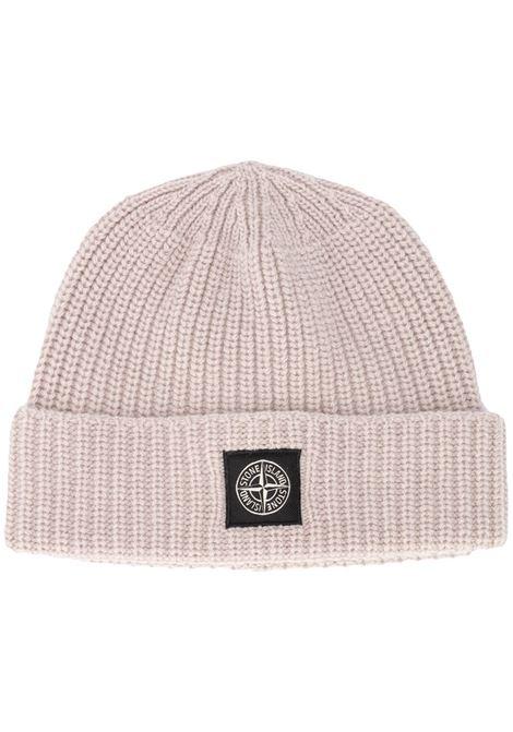 Cappello in lana beige con lavorazione a coste STONE ISLAND | Cappelli | 7315N10B5V0092
