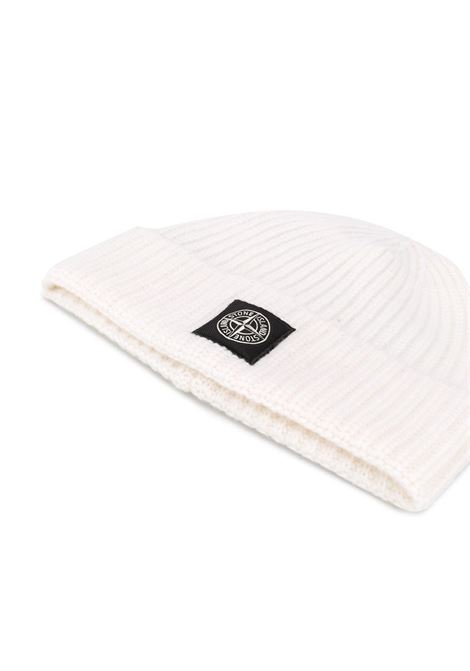 Off-white wool knit beanie featuring a ribbed knit STONE ISLAND |  | 7315N10B5V0099