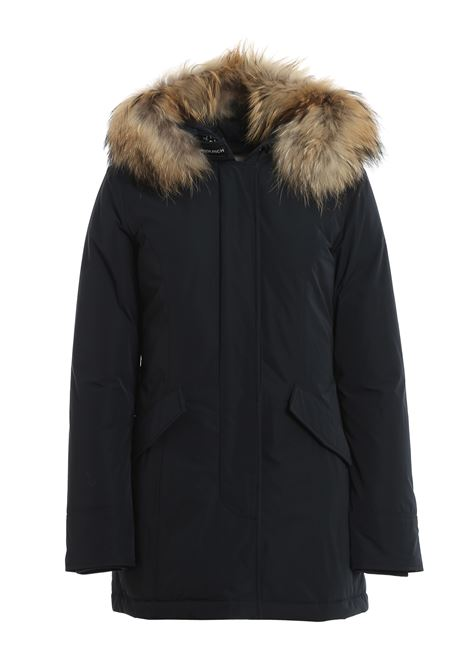 Heavy midnight blue padded parka with removable hood in Murmasky fur Woolrich |  | WWOU0296FRUT0573100