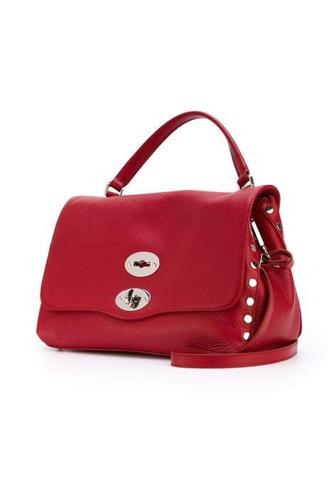 borsa Postina piccola in pelle rossa con dettagli in metallo argento Zanellato | Borse a tracolla | 6120-1837