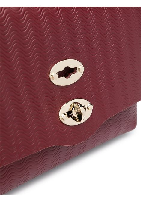 Dark red leather and chamois leather foldover top baby Postina crossbody bag  Zanellato |  | 6263-6037
