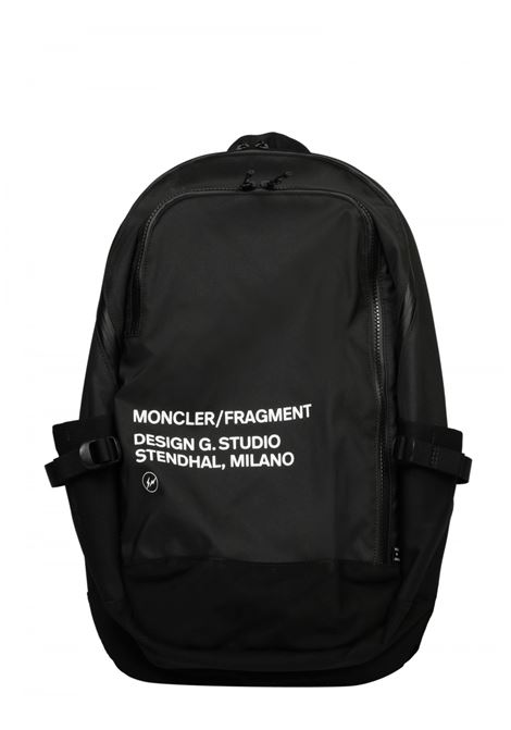 Black nylon backpack with Moncler Genius x Fragment Design faux suede bottom MONCLER GENIUS |  | 5A700-00-02SLR999