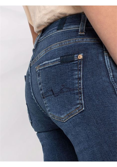 Dark blue cotton Illusion Necessity bootcut jeans  7 FOR ALL MANKIND |  | JSABB740SA-ANKLE BOOTMID BLUE