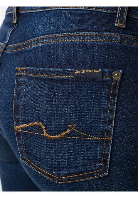 Dark blue cotton blend boot-leg jeans 7 FOR ALL MANKIND |  | JSWB44A0DN-BOOTCUTDARK BLUE