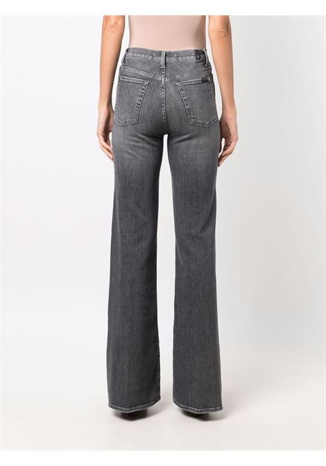 Dark grey stretch-cotton blend high-rise flared jeans  7 FOR ALL MANKIND |  | JSWDU790SR*MODERN DOJOGREY