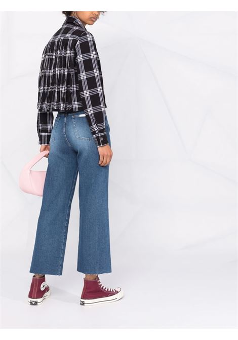 Mid-blue cotton cropped straight-leg jeans  7 FOR ALL MANKIND |  | JSWJ1200RJ-CROPPED ALEXAMID BLUE