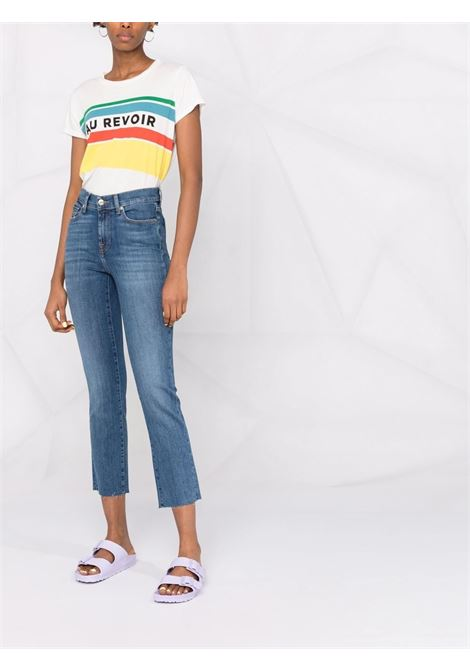 Dark denim cotton cropped straight-leg jeans   7 FOR ALL MANKIND |  | JSYX44A0NN-THE STRAIGHT CROPLIGHT BLUE