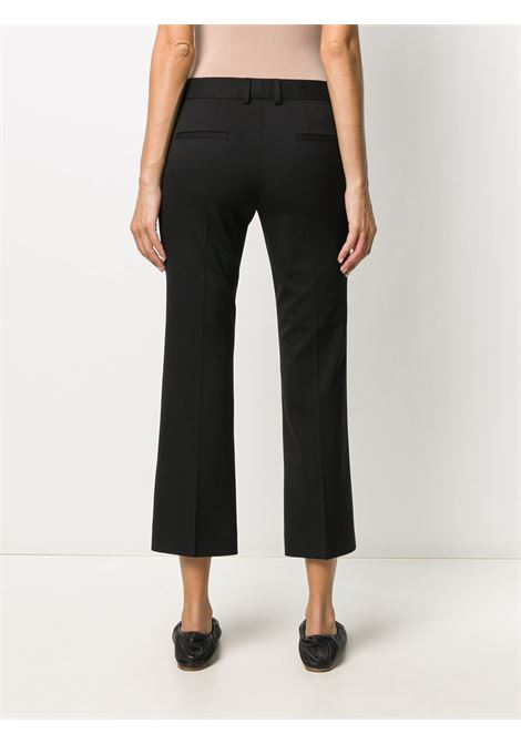Black virgin wool and cotton cropped tailored trousers  ALBERTO BIANI |  | CC815-WO024190