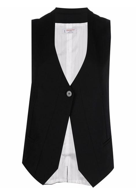 Black virgin wool single-breasted waistcoat  ALBERTO BIANI |  | GG811-WO024190