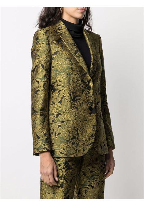 gold and black floral embroidered single-breasted blazer  ALBERTO BIANI |  | II876-VI606023