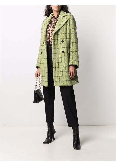 Cappotto doppiopetto in lana a quadri verde e nero ALBERTO BIANI   Cappotti   OO849-WO210976
