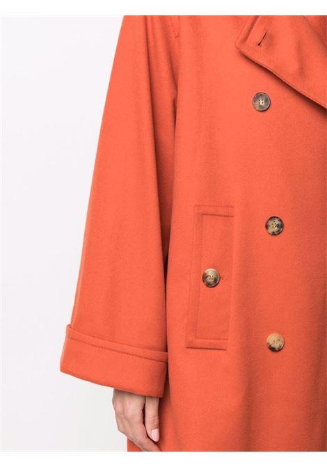 Cappotto doppiopetto arancione in lana vergine ALBERTO BIANI   Cappotti   OO883-WO0037630