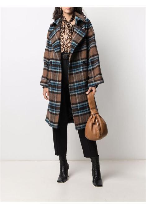 Cappotto doppiopetto in lana a quadri marrone, blu e nero ALBERTO BIANI   Cappotti   OO883-WO211182