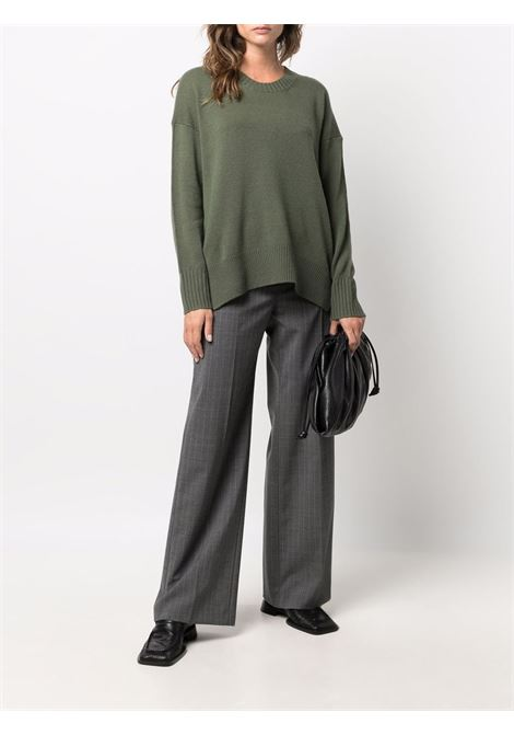 Green cashmere ribbed knitted jumper  ALLUDE |  | 215/1115136