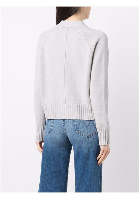 Cardigan grigio in cashmere con tasche a marsupio e scollo a V ALLUDE | Cardigan | 215/1125082