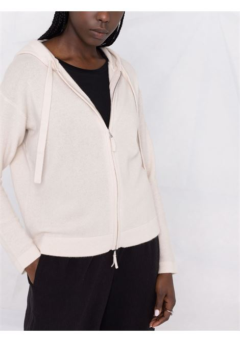white virgin wool and cashmere hooded zip-up cardigan ALLUDE |  | 215/1700041