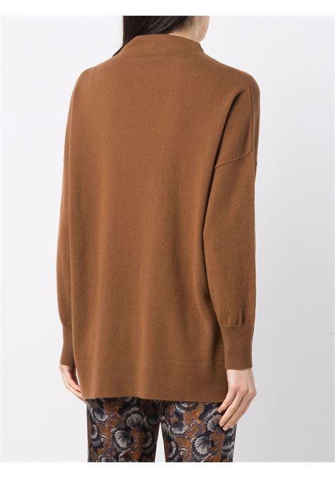 Maglione marrone in cashmere e lana vergine ALLUDE | Maglieria | 215/1700454