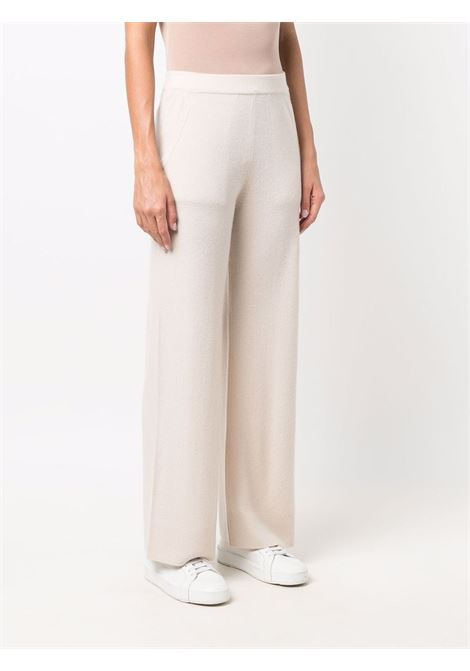 Pantaloni a gamba larga beige chiaro in lana vergine e cashmere ALLUDE | Pantaloni | 215/1700641