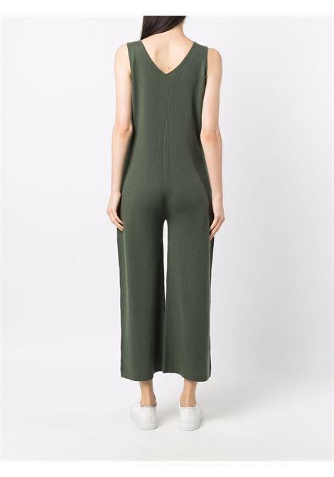 Tuta in maglia di lana vergine e cashmere verde militare ALLUDE | Tuta | 215/1700736