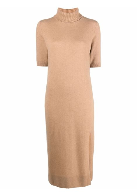 Camel brown virgin wool and cashmere roll-neck long knit jumper ALLUDE |  | 215/1701243