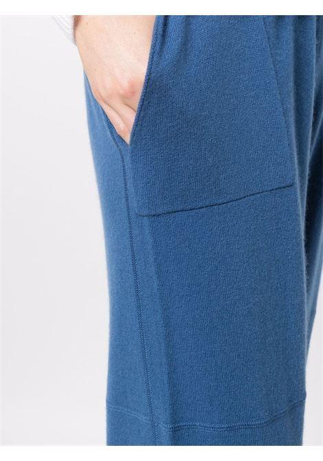 Joggers blu scuro in maglia di cashmere e lana vergine ALLUDE | Pantaloni | 215/1761213