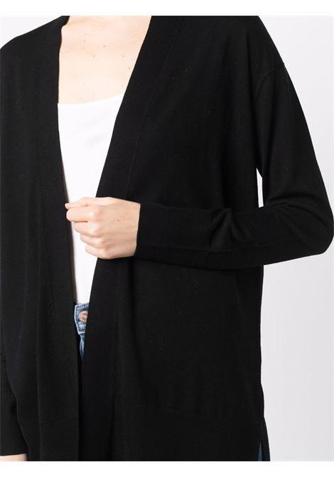 Cardigan nero in lana vergine ALLUDE | Cardigan | 215/64013490