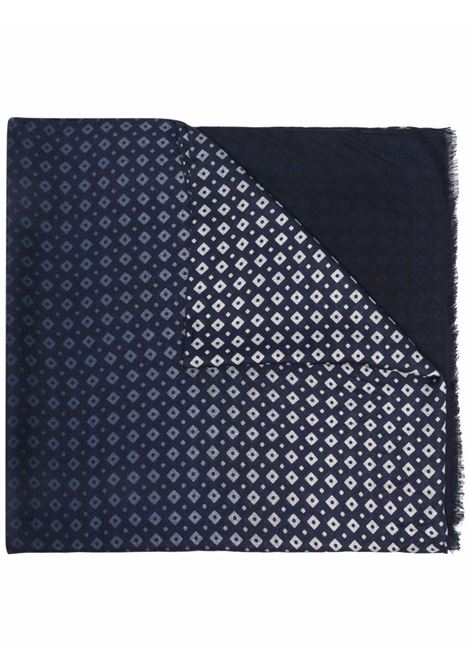 Sciarpa bicolore in modal blu con motivo a rombi ALTEA | Sciarpe e foulards | 216002003