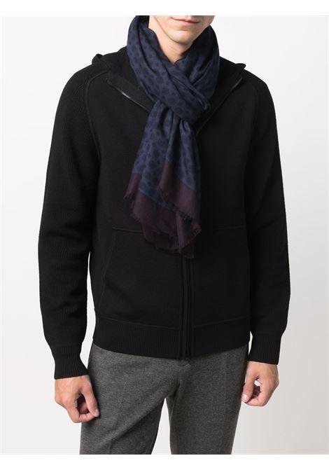 Sciarpa in modal blu in stampa geometrica ALTEA | Sciarpe e foulards | 216003201