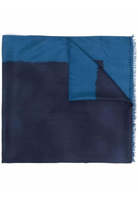 Blue modal contrast border fringed foulard ALTEA |  | 216006101