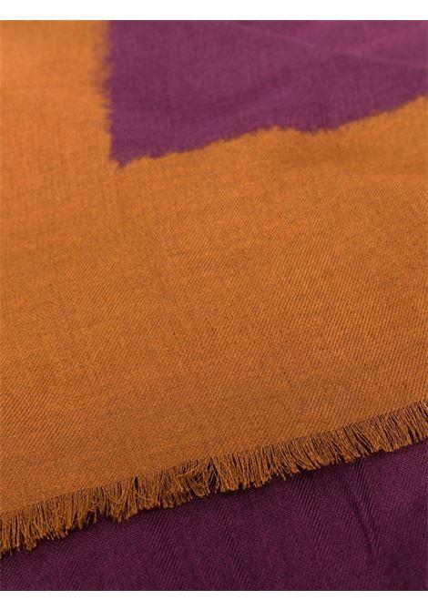 foulard con frange in modal a contrasto viola e marrone tabacco ALTEA | Sciarpe e foulards | 216006104