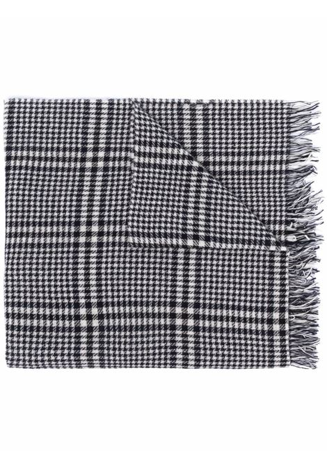 Sciarpa in lana vergine pied-de-poule bianca e nera ALTEA | Sciarpe e foulards | 216012001