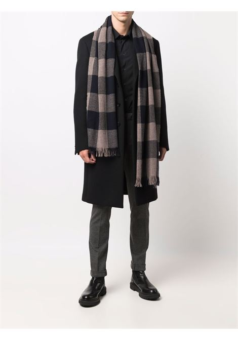 Sciarpa in lana a quadri blu e marrone ALTEA | Sciarpe e foulards | 216012201