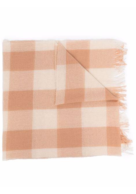 Sciarpa a quadri cammello e lana bianca ALTEA | Sciarpe e foulards | 216012203