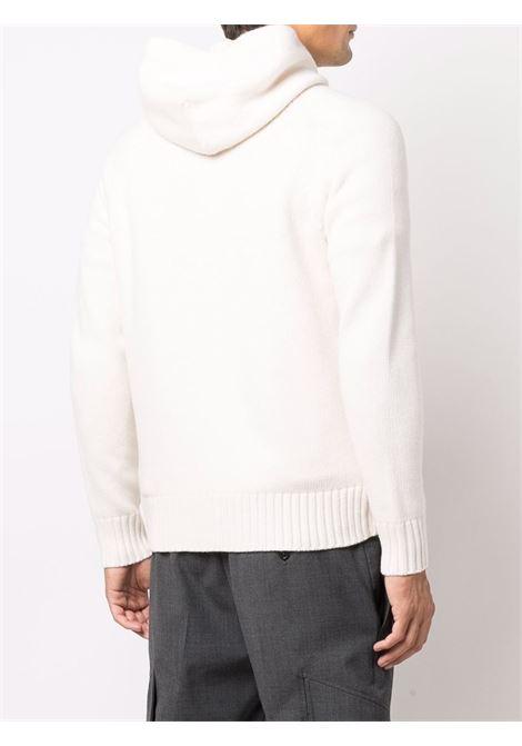 Cardigan in maglia di lana bianca con zip ALTEA | Cardigan | 216105828