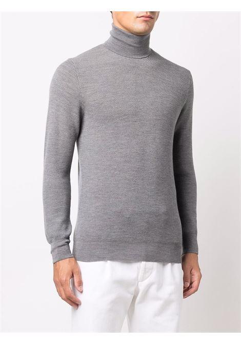 dolcevita in lana grigia con fondo a coste ALTEA | Maglieria | 216111322