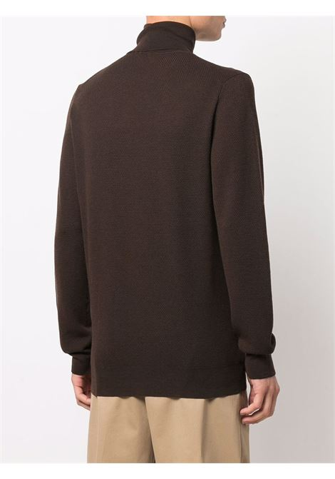 Maglione dolcevita marrone in lana ALTEA | Maglieria | 216111338