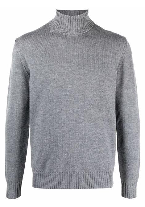 Maglione dolcevita grigio in lana con bordo a coste ALTEA | Maglieria | 216113623