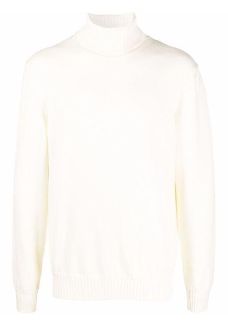 Dolcevita bianco panna in lana vergine con bordo a costine ALTEA | Maglieria | 216113628