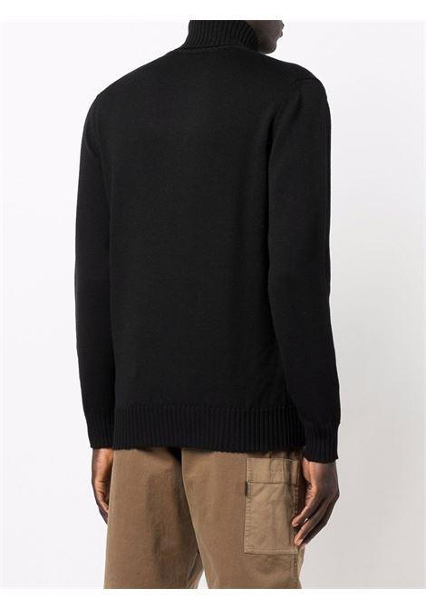 Maglione nero in lana vergine con collo alto ALTEA | Maglieria | 216113690