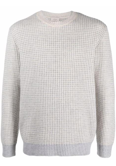 Maglione grigio chiaro in lana e cashmere con lavorazione a nido d'ape ALTEA | Maglieria | 216122123