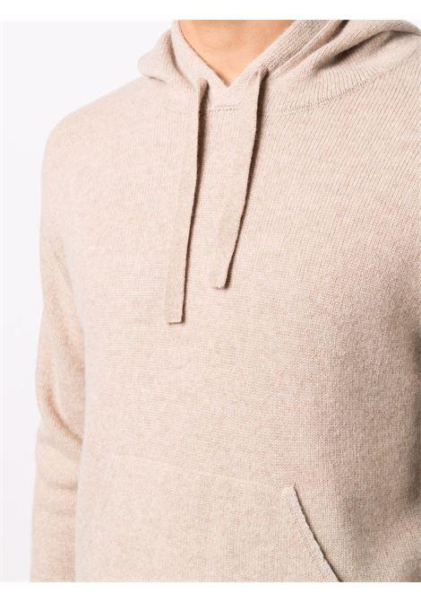 Felpa beige in lana e cashmere con cappuccio ALTEA | Maglieria | 216122531