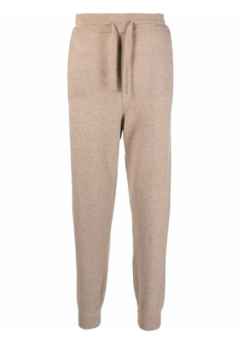 pantaloni sportivi slim fit in maglia di lana beige ALTEA   Pantaloni   216122631