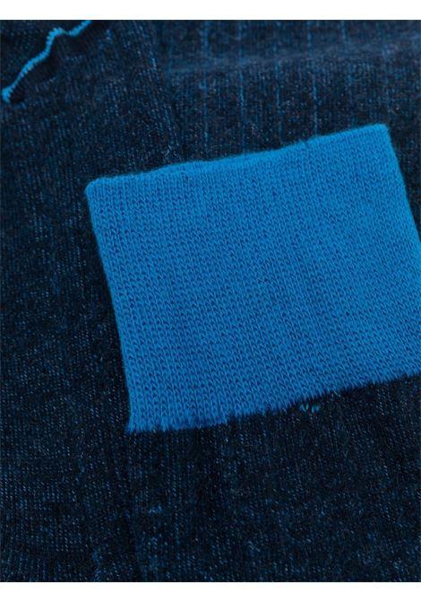 Calzini bi-colore blu a costine. ALTEA | Calze | 216800201