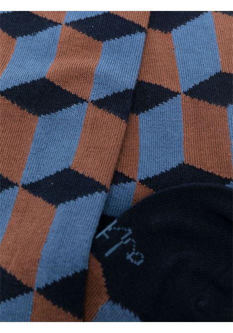 Calzini alla caviglia con motivo geometrico in cotone stretch multicolor ALTEA | Calze | 216801901