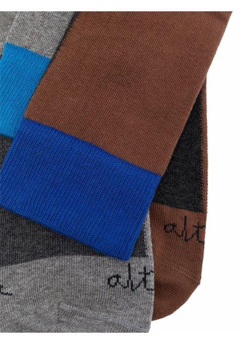 Multicoloured colour block ankle socks featuring Altea logo ALTEA |  | 216802005