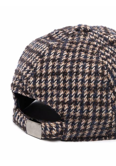 cappellino da baseball con stampa pied-de-poule in cotone marrone ALTEA | Cappelli | 216810501