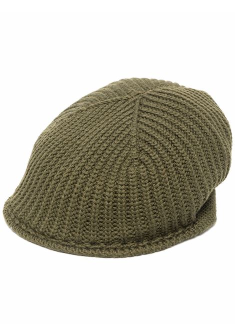 Basco in maglia di lana a coste in lana verde militare ALTEA | Cappelli | 216810803
