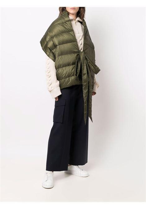 Khaki green padded down-filled scarf  ASPESI      1E07-E04185393