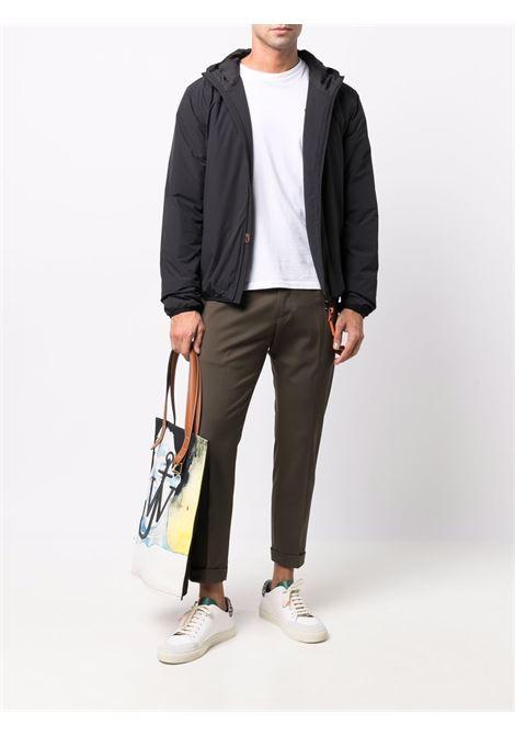 Black padded hooded zip-up jacket  ASPESI |  | 1I01-L58901241